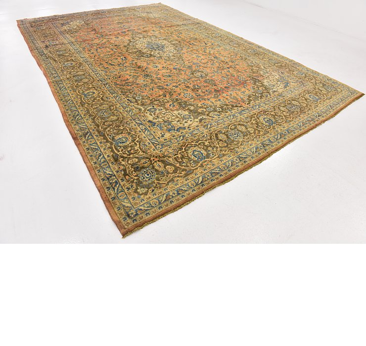 9' 8 x 14' 10 Kashan Persian Rug