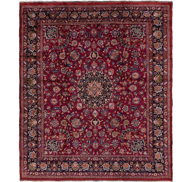 297cm x 348cm Mashad Persian Square Rug