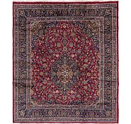Link to 9' 6 x 10' 8 Mashad Persian Square Rug