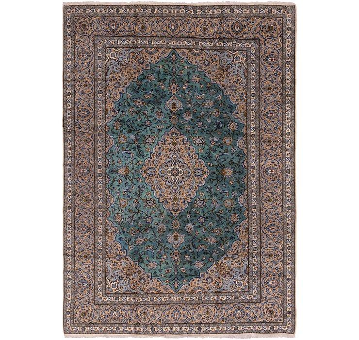 9' 8 x 13' 7 Kashan Persian Rug