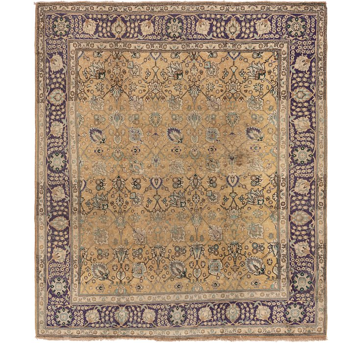 9' 5 x 10' 9 Tabriz Persian Square Rug