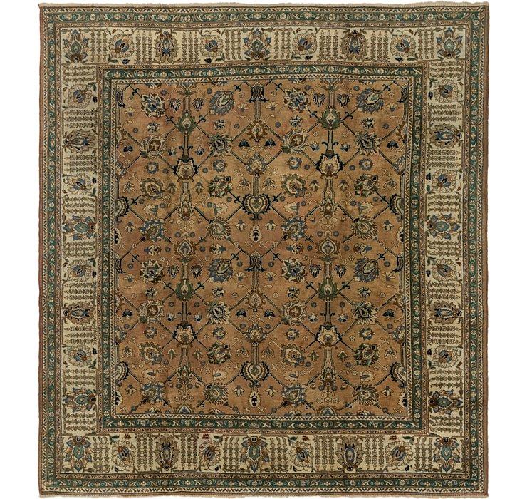 8' 5 x 9' 3 Tabriz Persian Square Rug