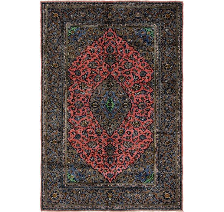 6' 5 x 9' 7 Kashan Persian Rug