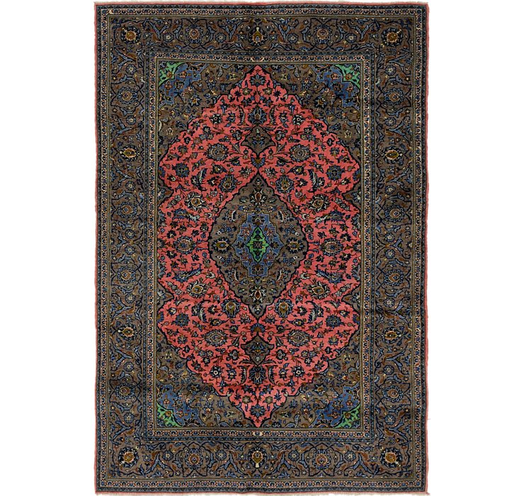 195cm x 292cm Kashan Persian Rug