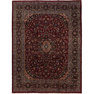 Link to 9' 7 x 12' 8 Mashad Persian Rug page