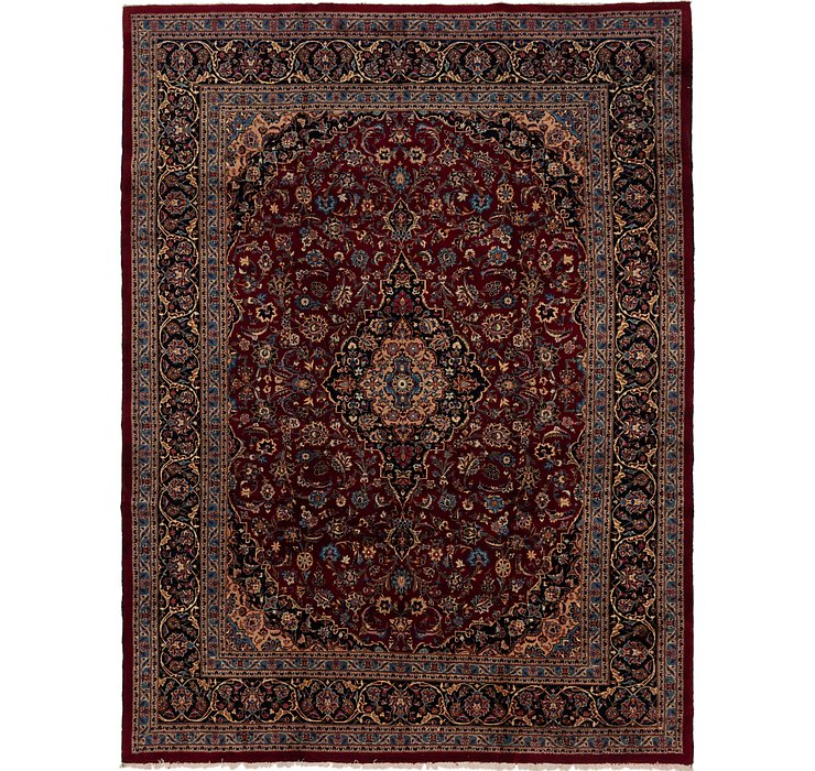 HandKnotted 9' 7 x 12' 8 Mashad Persian Rug
