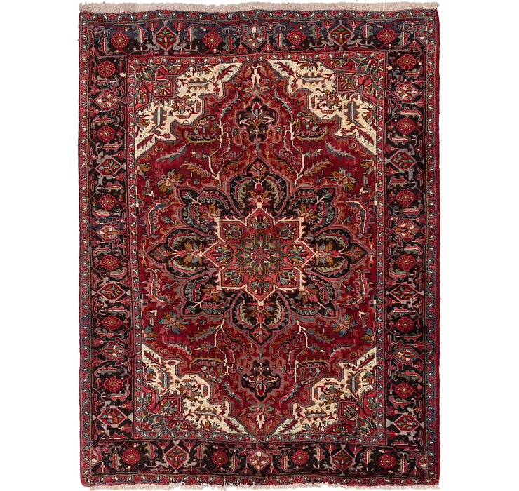 7' x 9' 3 Heriz Persian Rug