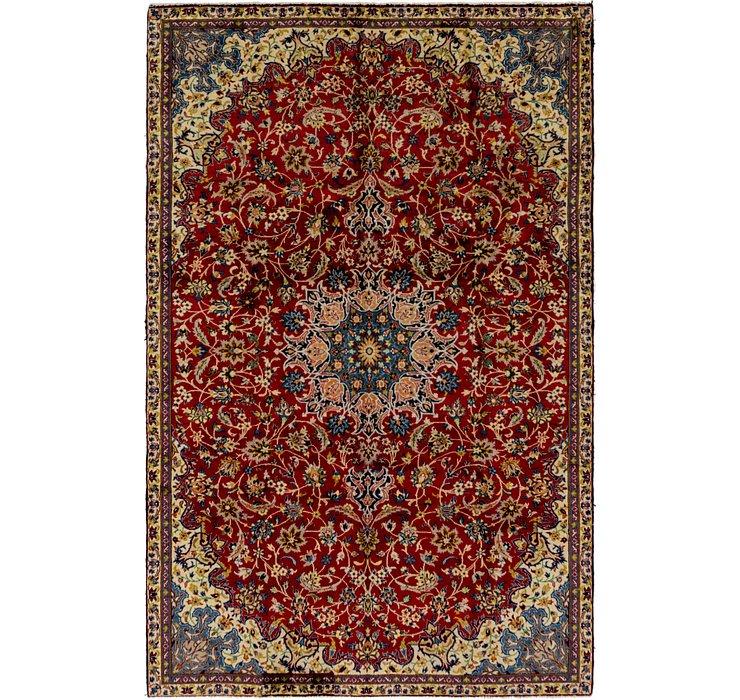 6' 8 x 10' 4 Isfahan Persian Rug