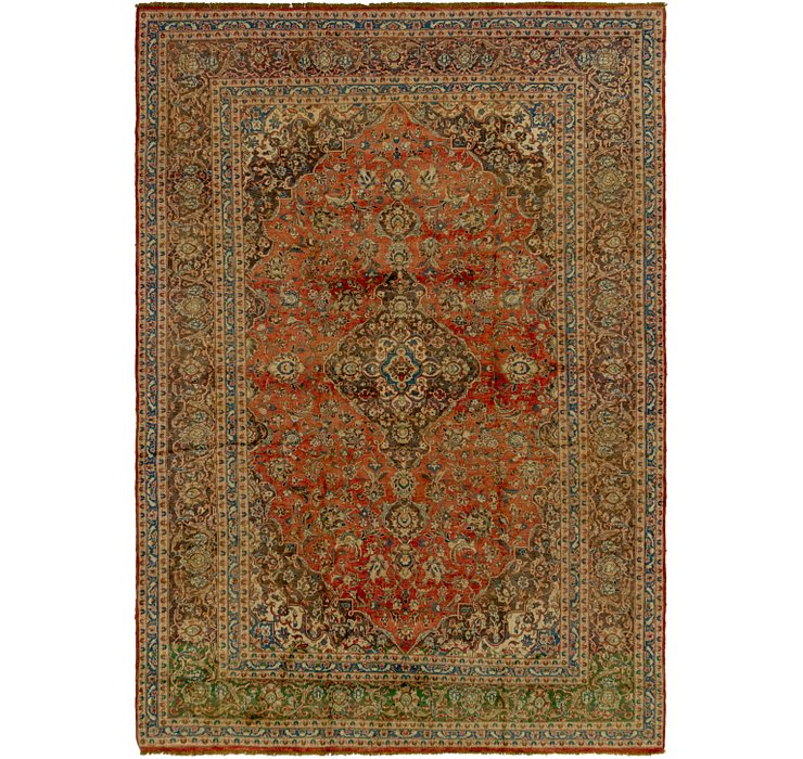HandKnotted 9' 7 x 13' 6 Kashan Persian Rug