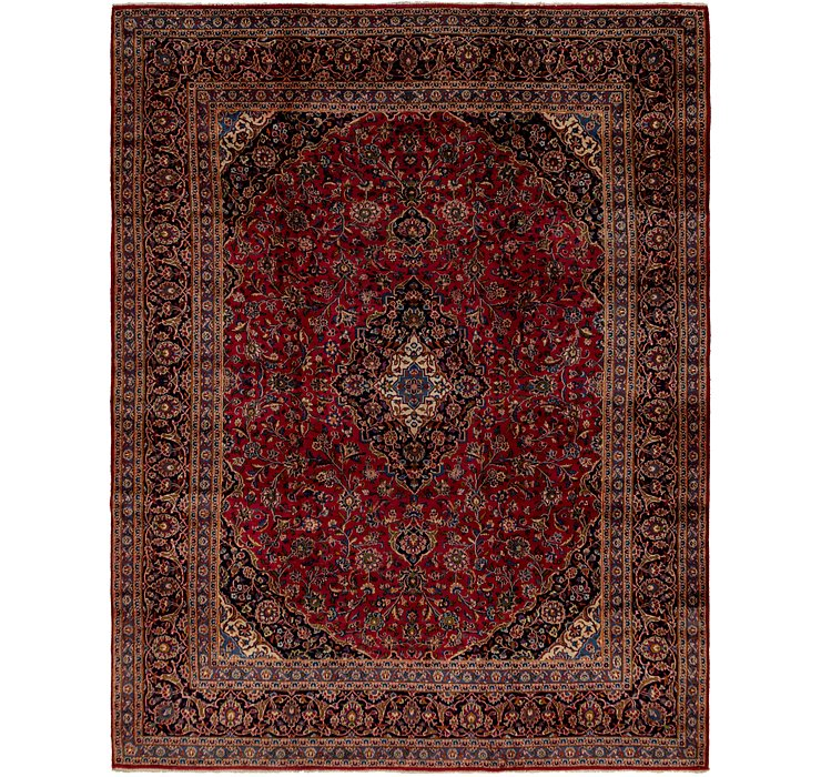 HandKnotted 9' 9 x 13' Mashad Persian Rug