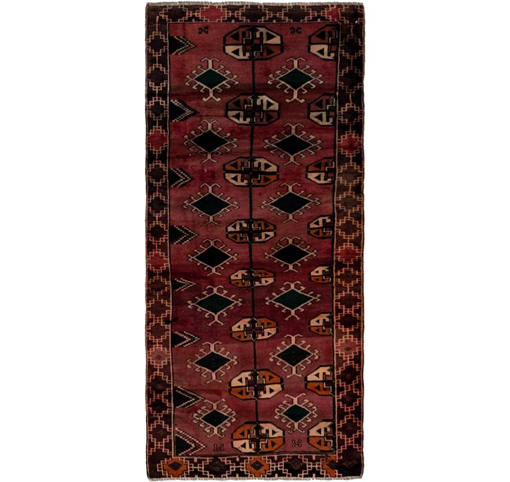 97cm x 218cm Shiraz Persian Runner Rug