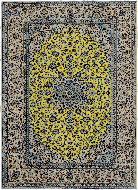 Yellow 8 2 X 11 Kashan Persian Rug Erugs