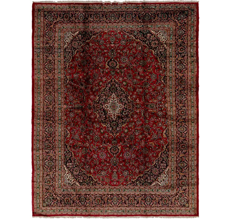 Red 9 8 X 12 7 Mashad Persian Rug Rugs Erugs