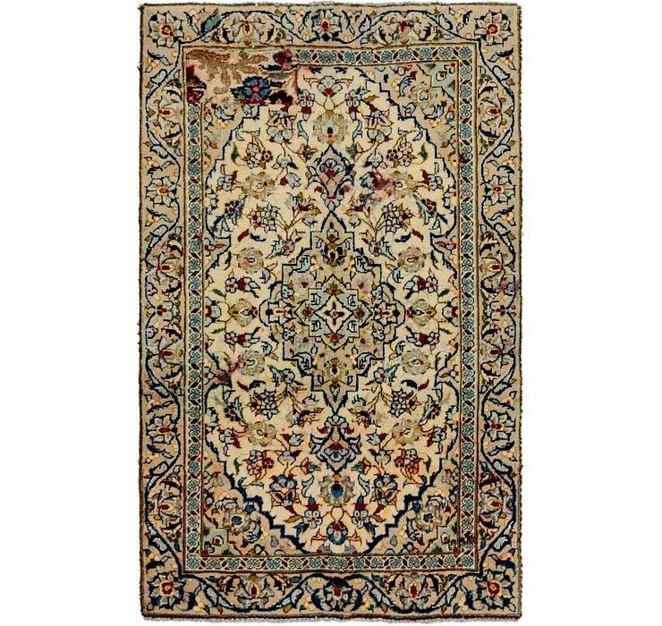 3' x 4' 9 Kashan Persian Rug