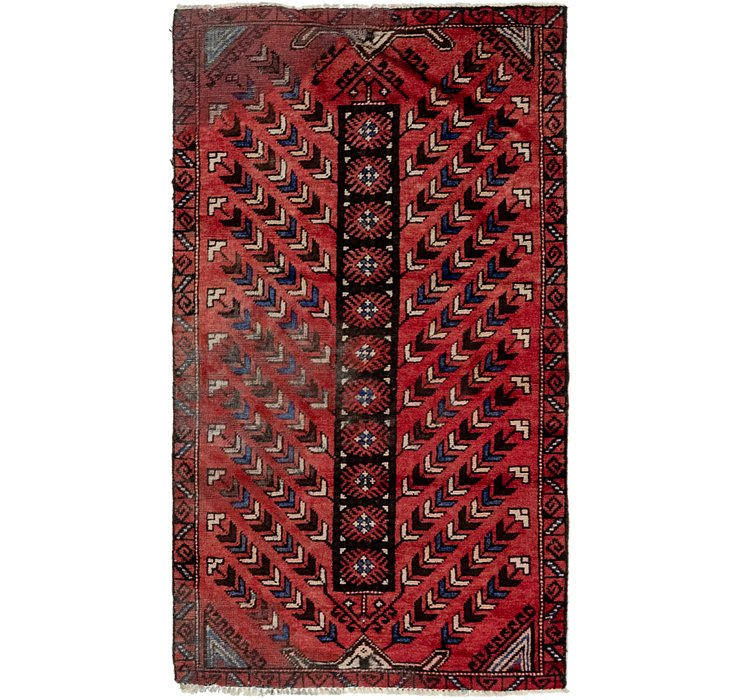 3' 2 x 5' 6 Balouch Persian Rug