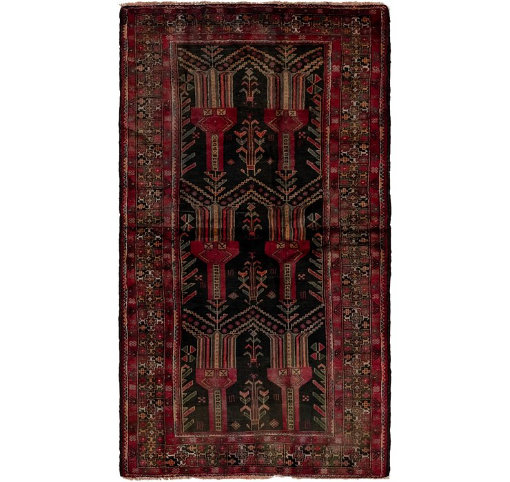 3' 10 x 7' Balouch Persian Runner ...