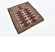 Link to 97cm x 112cm Balouch Persian Square Rug