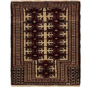 Link to 3' 2 x 3' 8 Balouch Persian Square Rug