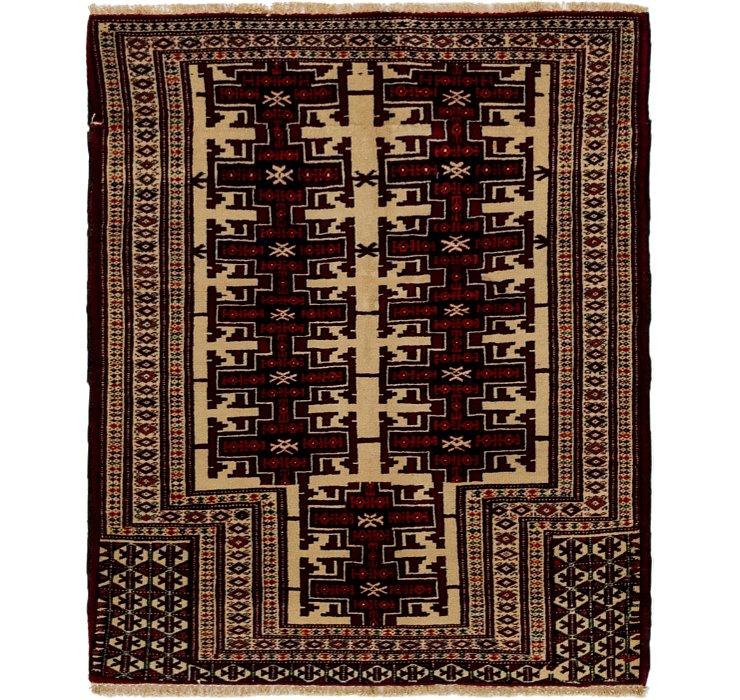 3' 2 x 3' 8 Balouch Persian Square ...