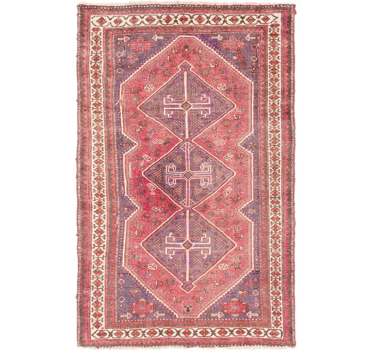 5' x 8' 4 Shiraz Persian Rug
