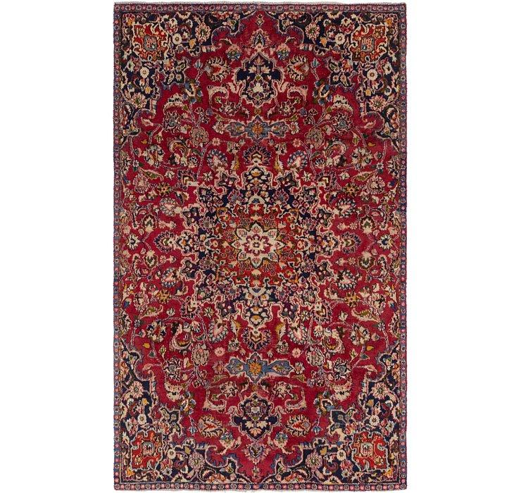 HandKnotted 5' 6 x 9' Mashad Persian Rug