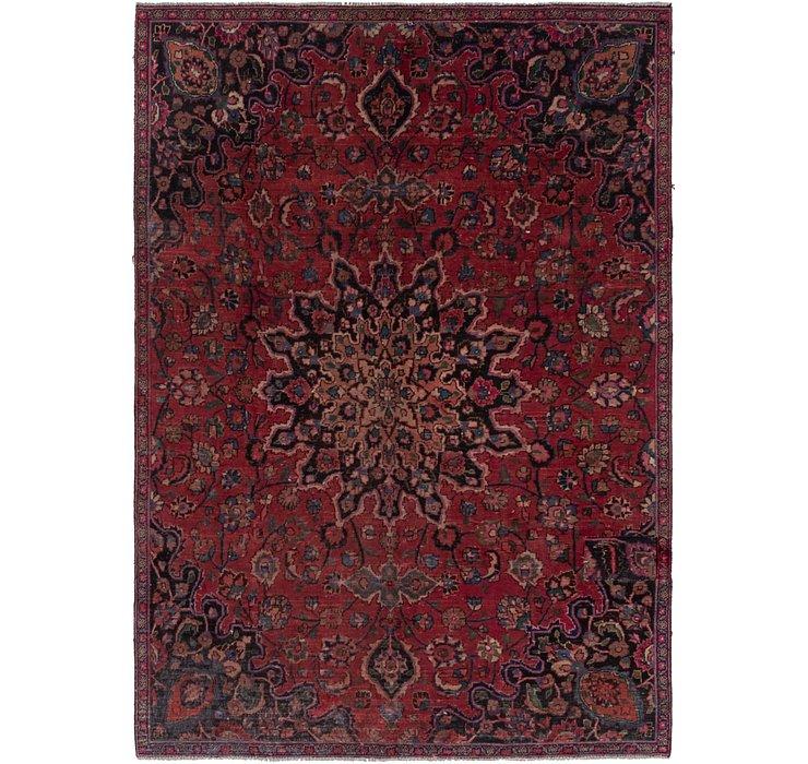 HandKnotted 6' 9 x 9' 10 Mashad Persian Rug