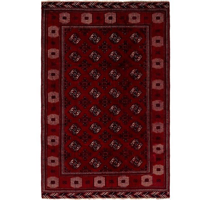 6' 6 x 10' Torkaman Persian Rug