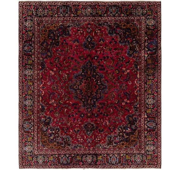 HandKnotted 7' 8 x 9' 2 Mashad Persian Rug