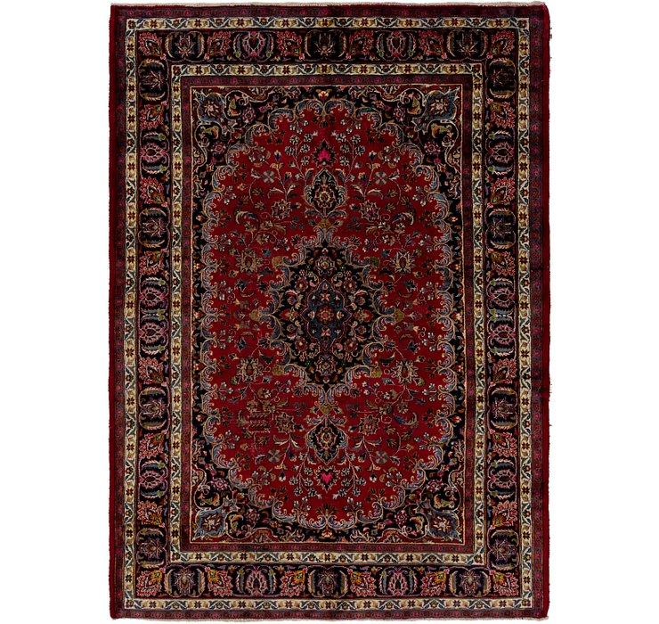 HandKnotted 6' 7 x 9' 3 Mashad Persian Rug