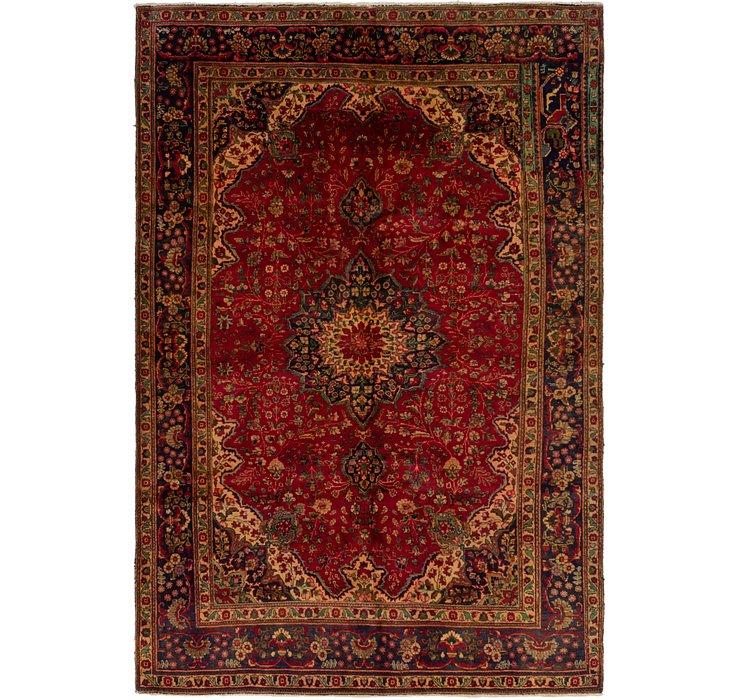 HandKnotted 6' 7 x 9' 9 Tabriz Persian Rug
