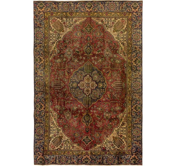 HandKnotted 5' 9 x 9' 6 Tabriz Persian Rug