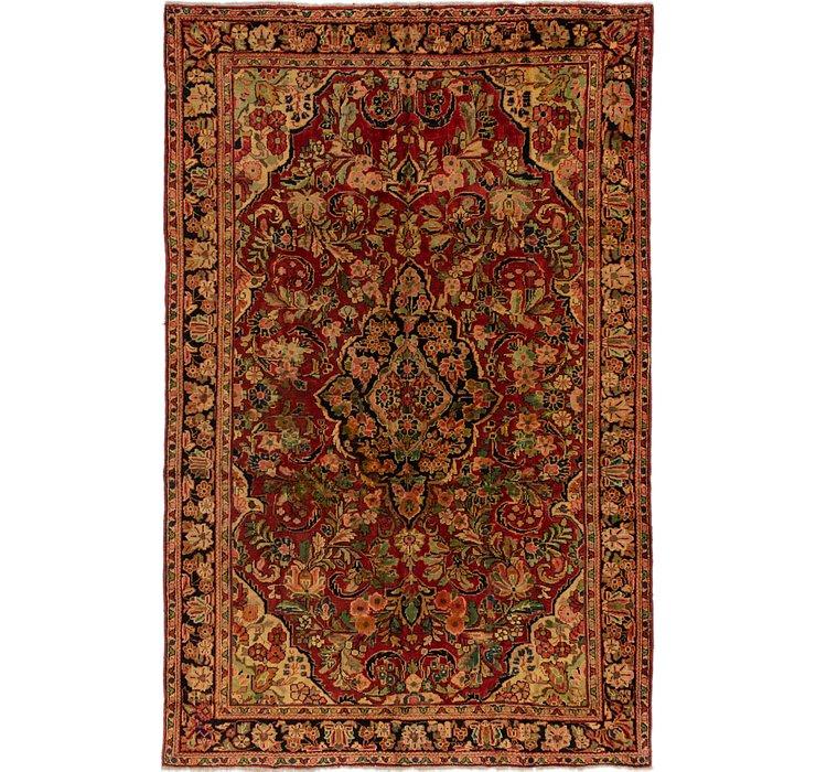 6' 6 x 10' 6 Meshkabad Persian Rug