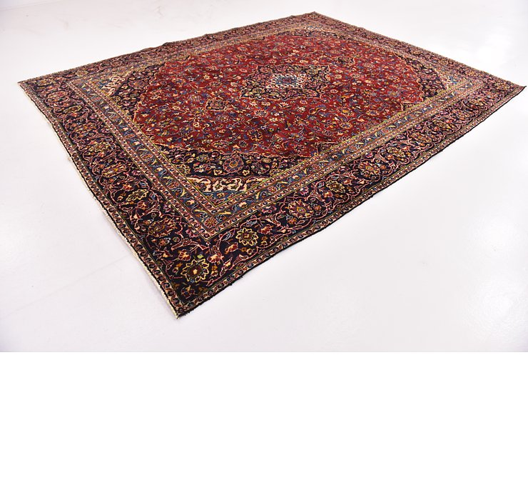 HandKnotted 9' x 12' 6 Mashad Persian Rug