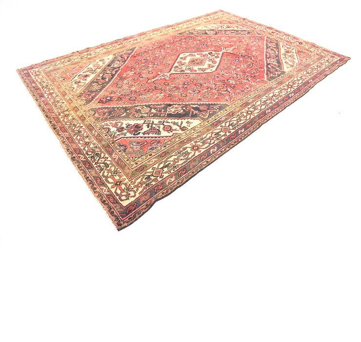 6' 7 x 9' 9 Hamedan Persian Rug
