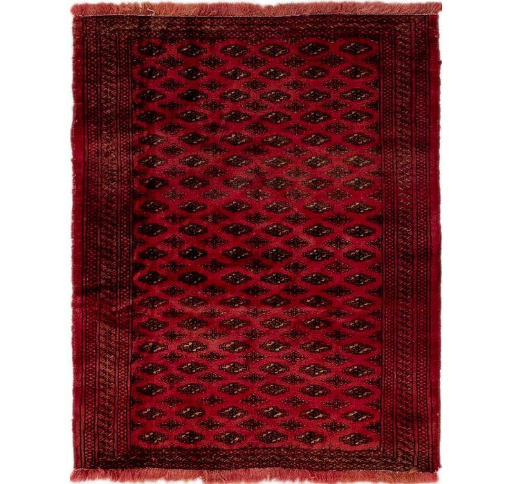 3' 8 x 4' 5 Shiraz Persian Square Rug