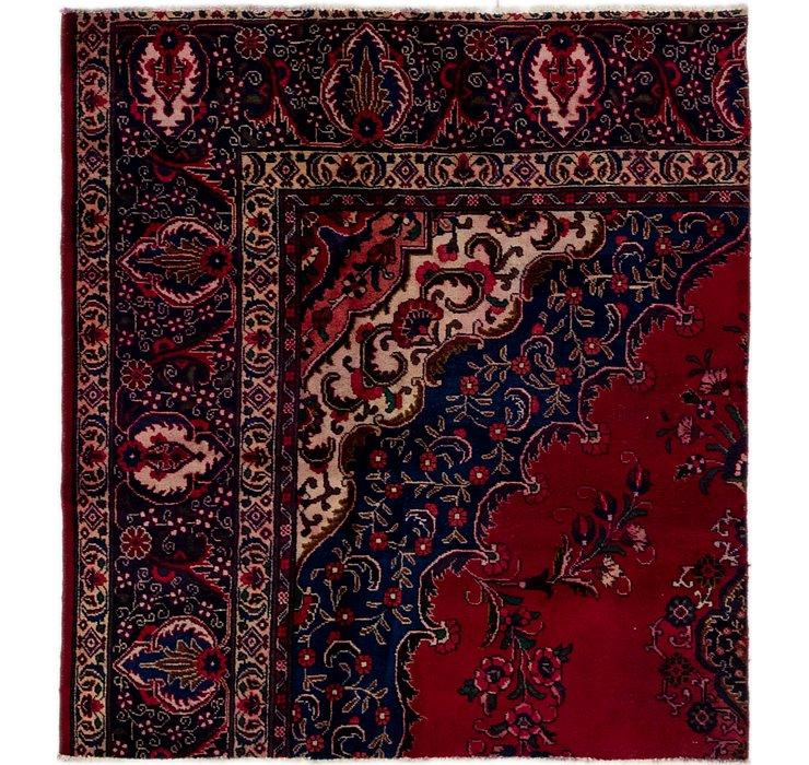 5' x 5' 5 Tabriz Persian Square Rug