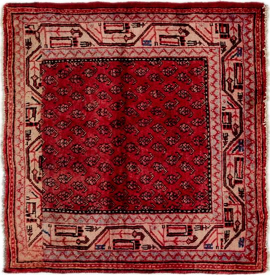 Red 3 3 X 3 5 Farahan Persian Square Rug Area Rugs Esalerugs
