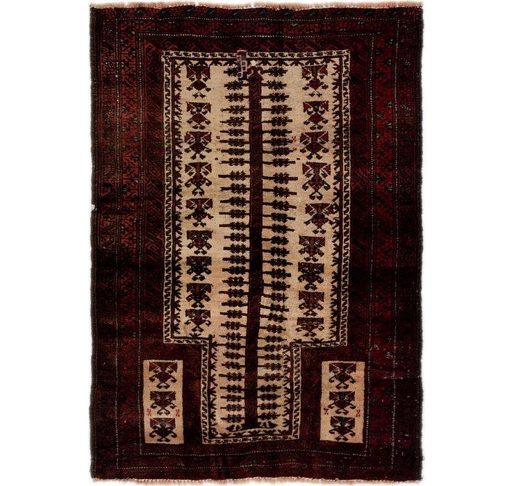 3' 3 x 4' 8 Balouch Persian Rug