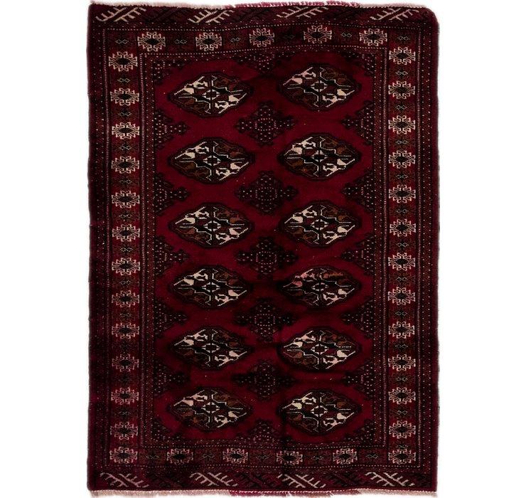 3' 4 x 4' 8 Torkaman Persian Rug