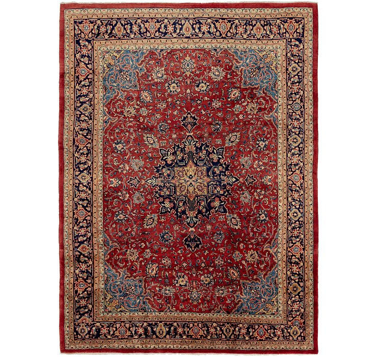 9' 8 x 13' 6 Sarough Persian Rug
