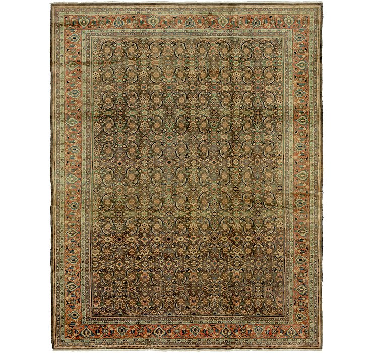 9' 7 x 12' 3 Farahan Persian Rug
