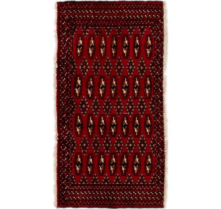 1' 10 x 3' 6 Torkaman Persian Rug