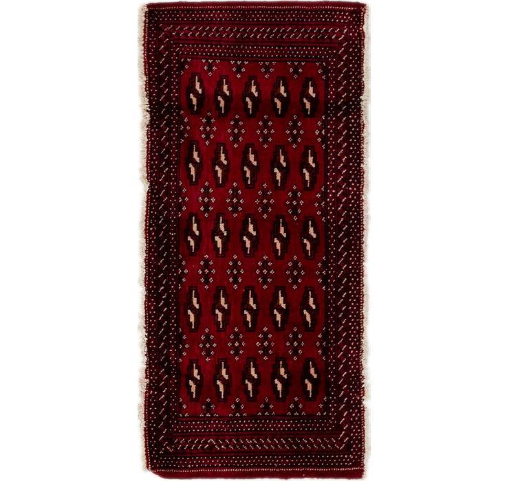 2' x 4' 6 Torkaman Persian Rug