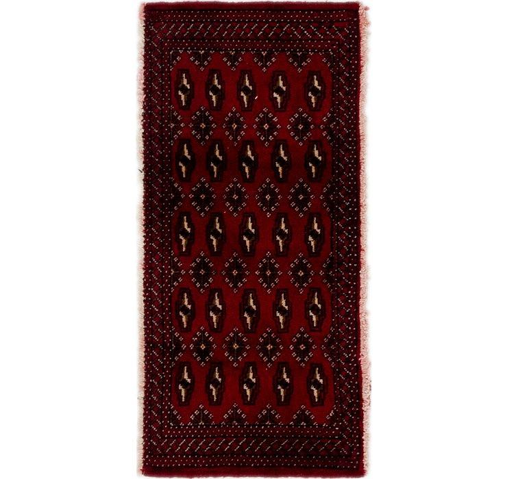 1' 8 x 3' 6 Torkaman Persian Rug