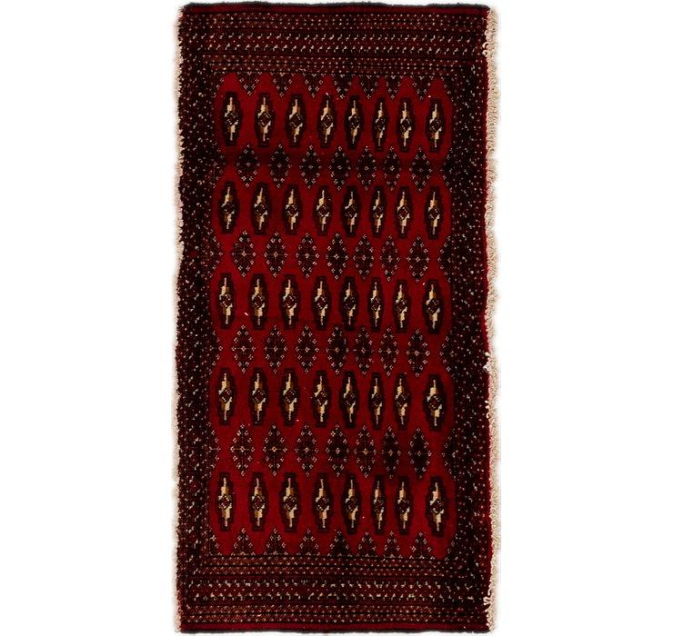 2' 1 x 4' 2 Torkaman Persian Rug