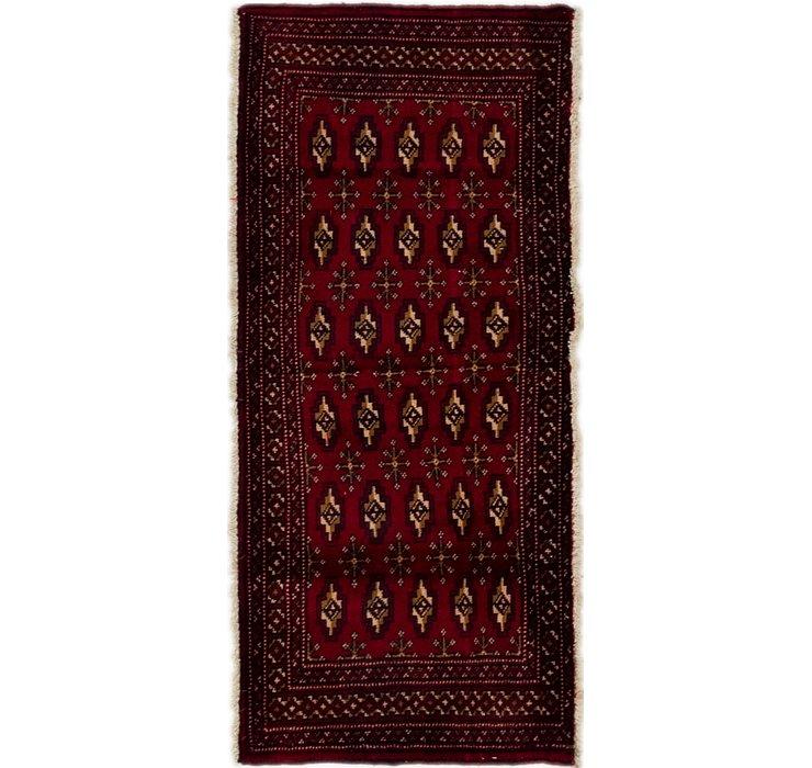 2' x 4' 5 Torkaman Persian Rug