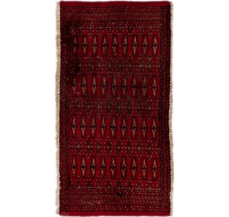 50cm x 100cm Torkaman Persian Rug