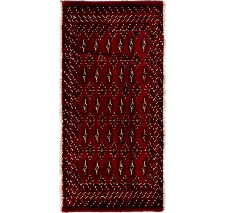 50cm x 107cm Torkaman Persian Rug