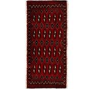Link to 1' 7 x 3' 5 Torkaman Persian Rug