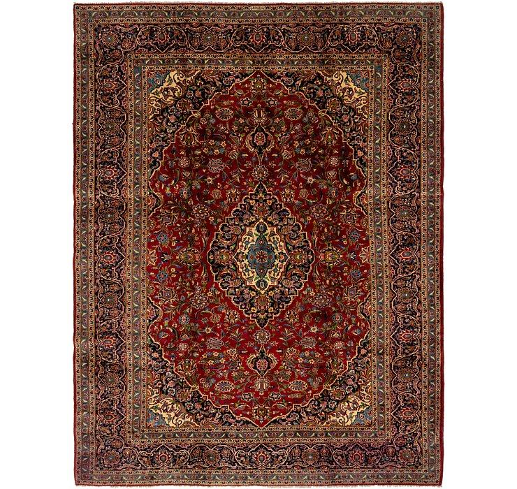 9' 1 x 12' 4 Kashan Persian Rug